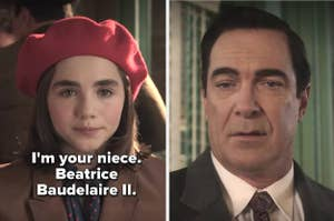 In A Series of Unfortunate Events, Beatrice Baudelaire II tells Lemony she's his niecee