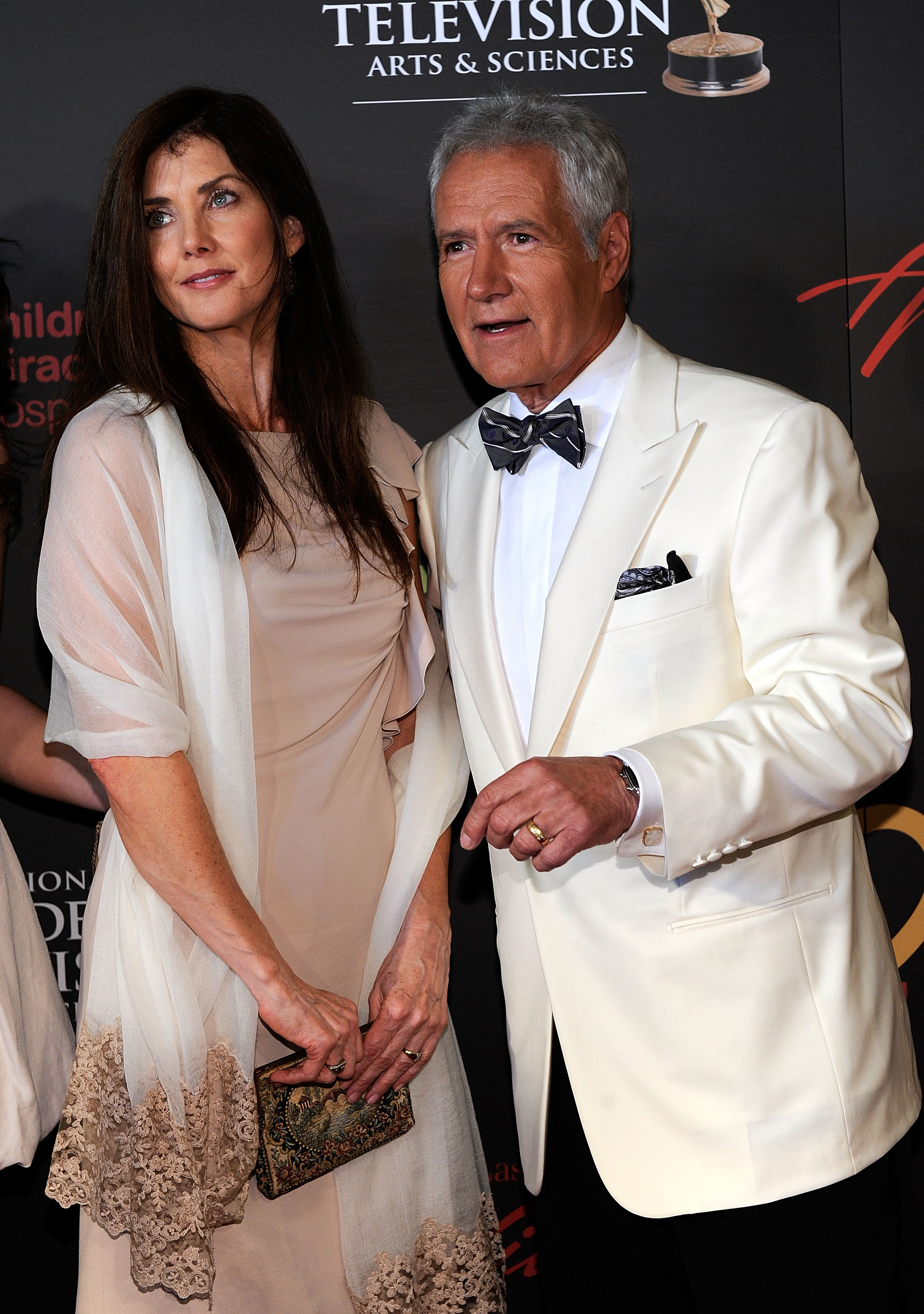 Alex Trebek (R) and Jean Currivan Trebek arrive at the 38th Annual Daytime Entertainment Emmy Awards held at the Las Vegas Hilton on June 19, 2011 in Las Vegas, Nevada.