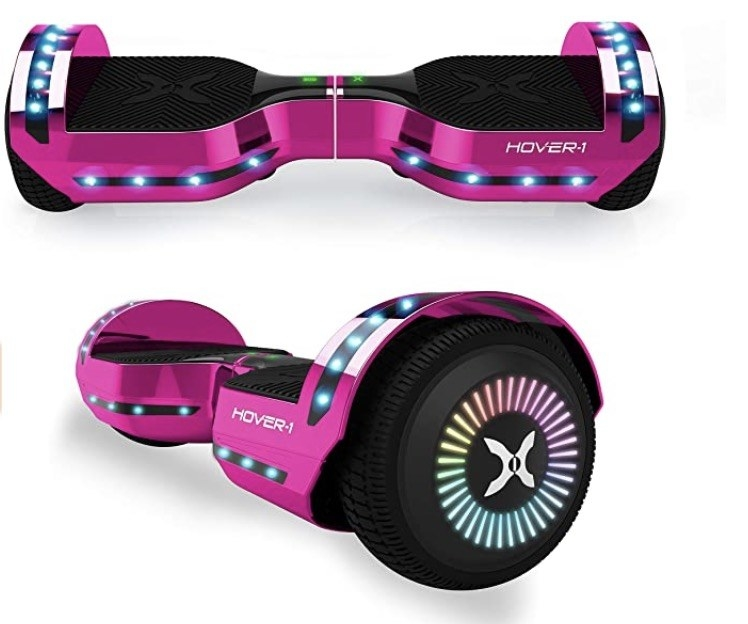 a pink hover board
