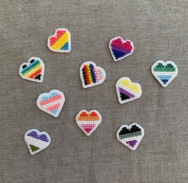 LGBTQIA+ heart patches