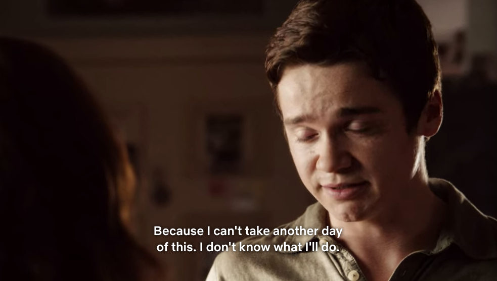 Brandon talking to Olive in her bedroom