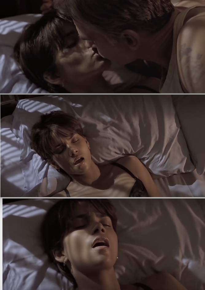 "Halle Berry and Billy Bob Thornton during their sex scene in ""Monster's Ball"""