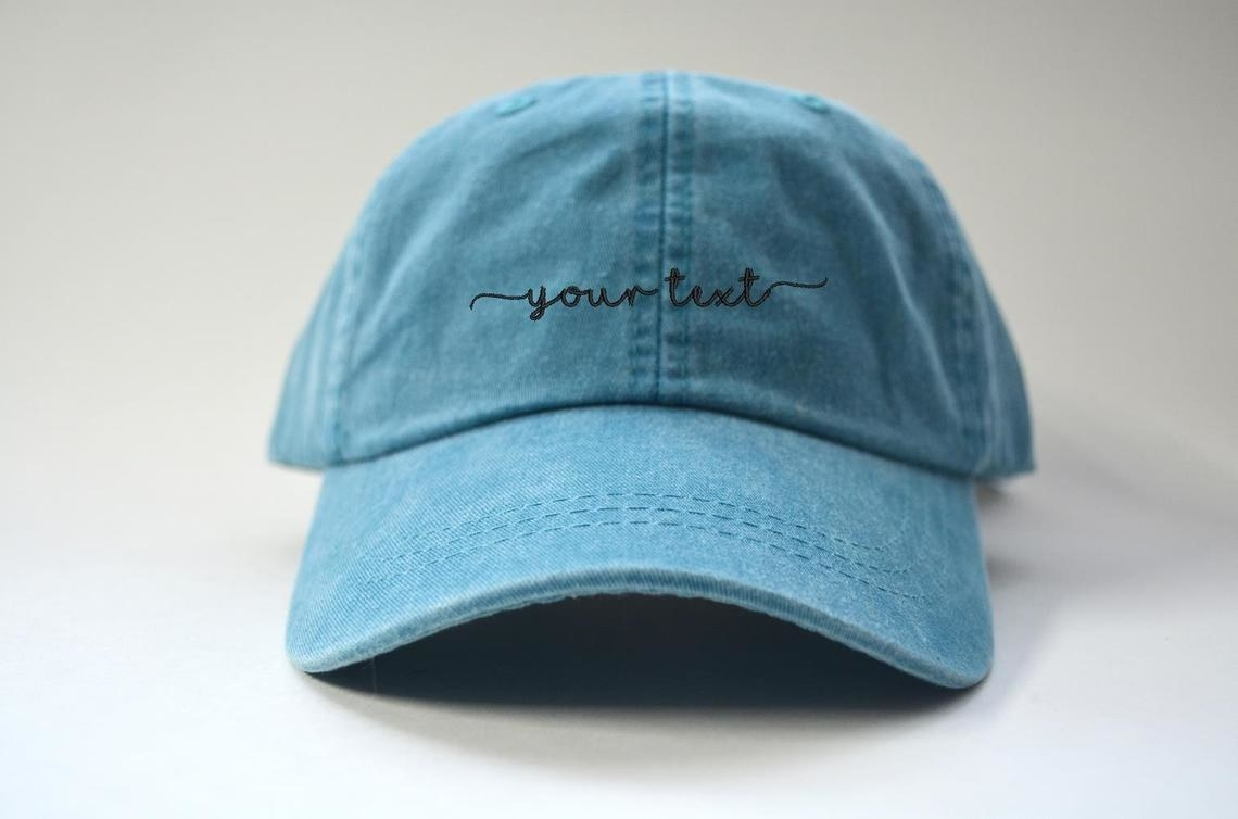 hat that says your text