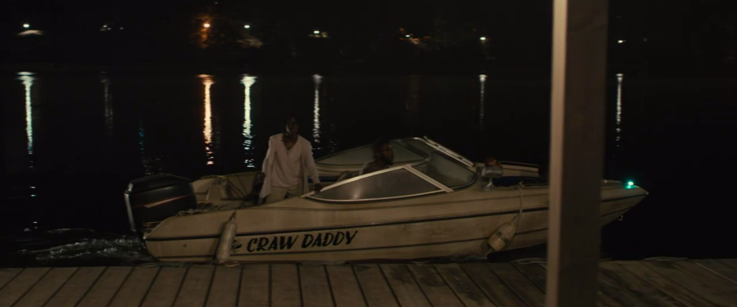 Gabe helps his family escape on the boat
