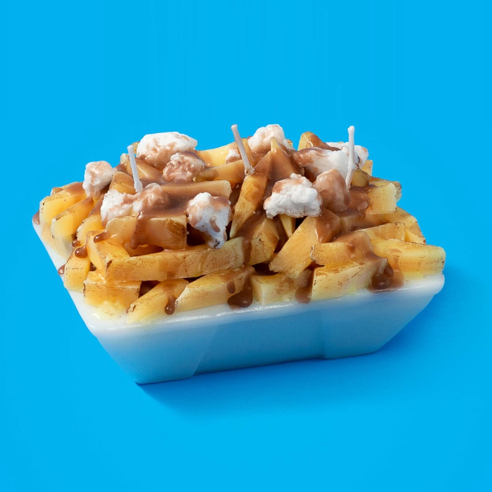candle that looks like poutine