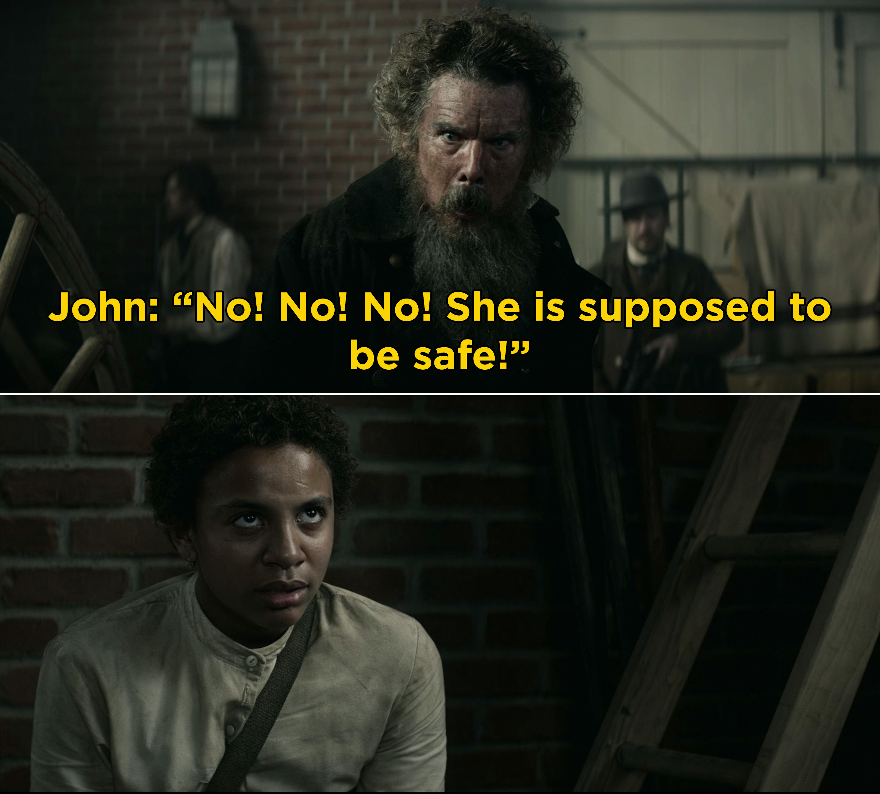"""John Brown screaming, """"No! No! No! She is supposed to be safe!"""""""