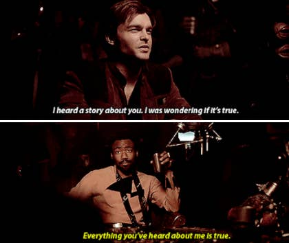 Lando meeting Han for the first time