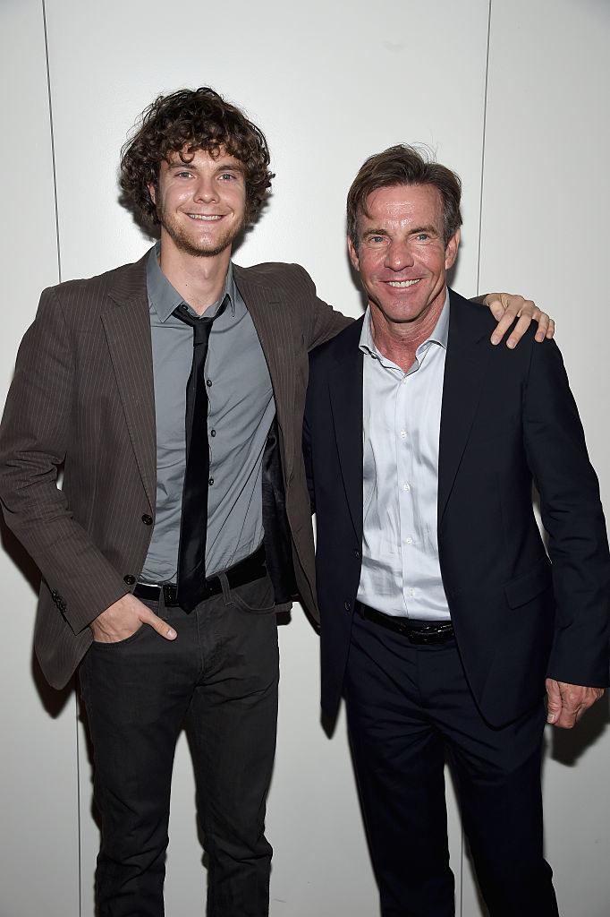Jack posing with his dad Dennis