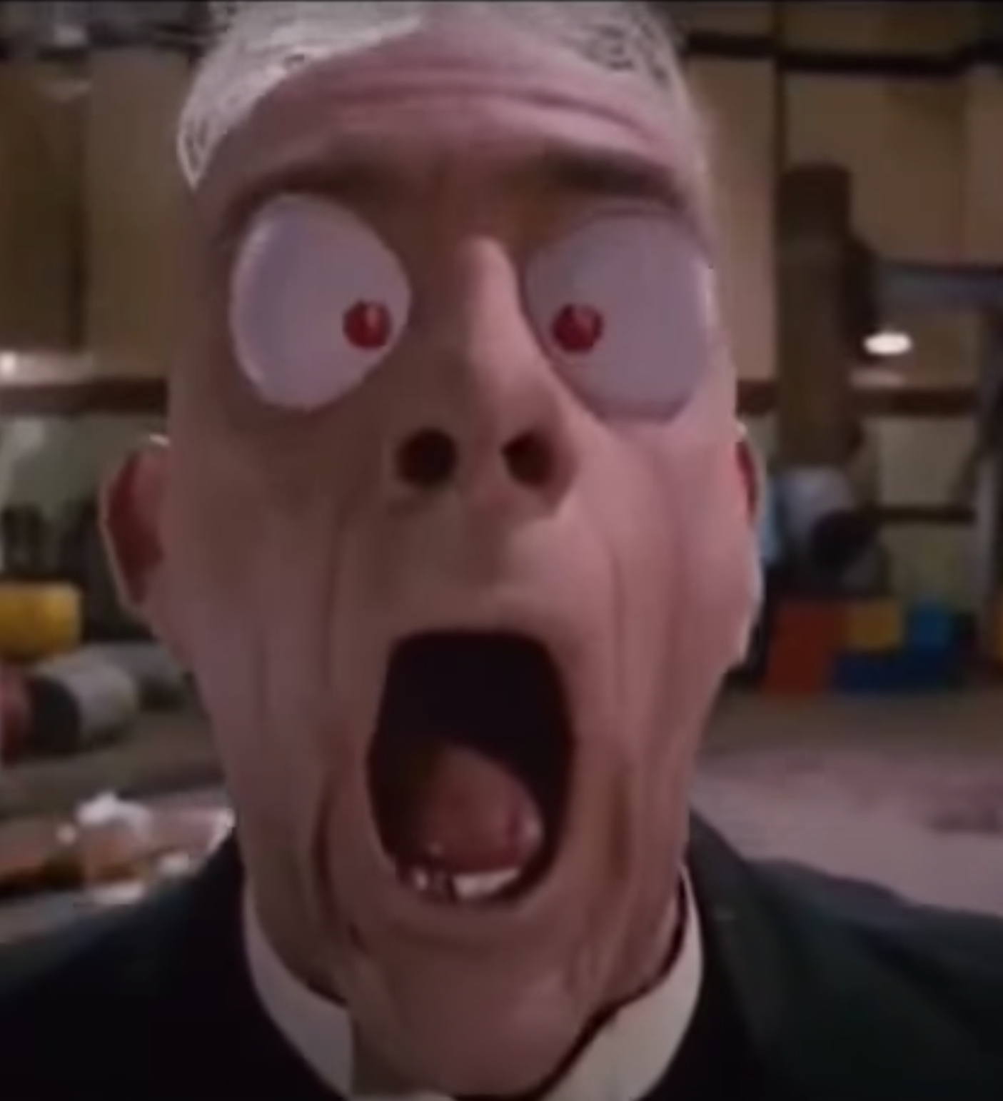 "Christopher Lloyd as Judge Doom in the movie ""Who Framed Roger Rabbit."""