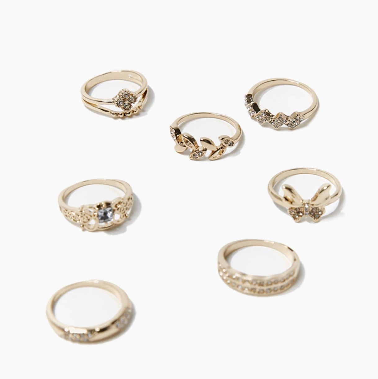 The gold ring set