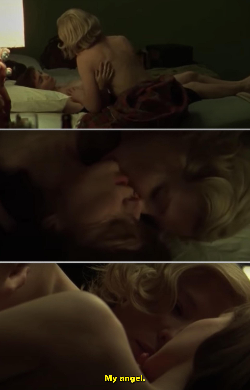 """Cate Blanchett and Rooney Mara making love in """"Carol"""""""
