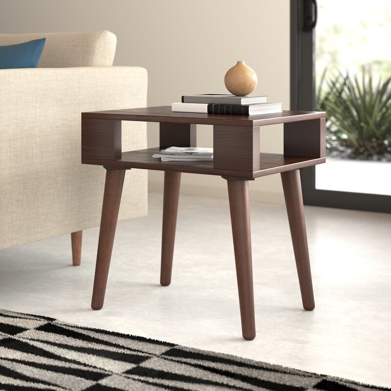 The brown side table