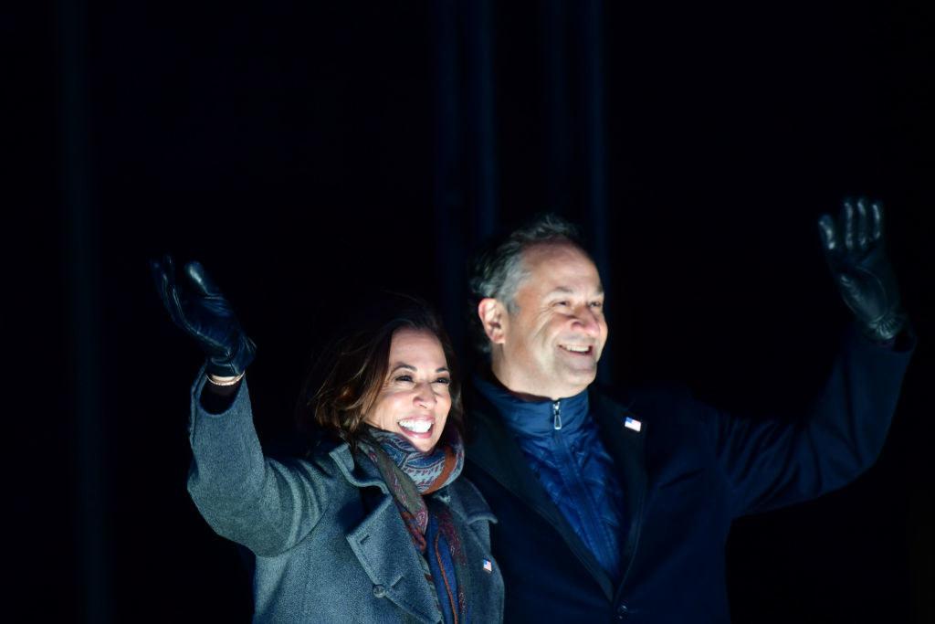 Harris and her husband, Doug Emhoff