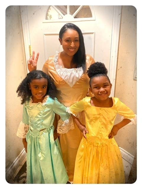 the writer and her twin daughters