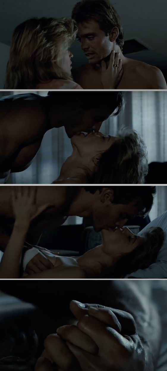 "Sex scene with Linda Hamilton in ""Terminator"""