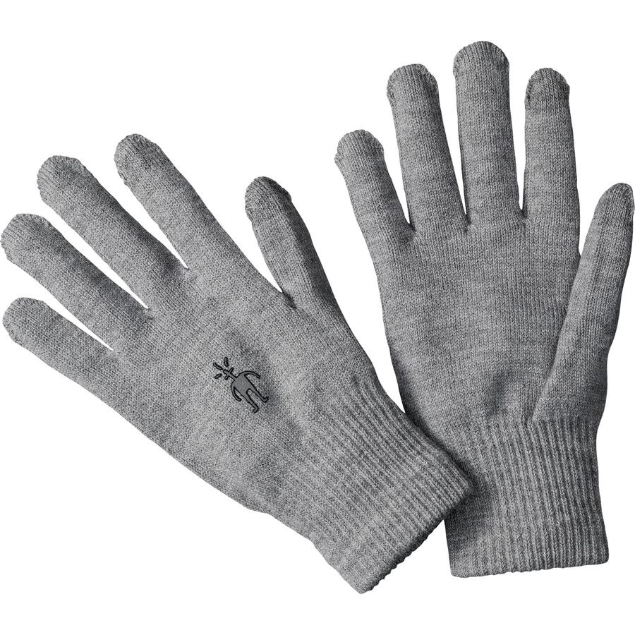 Liner gloves in Silver Gray Heather