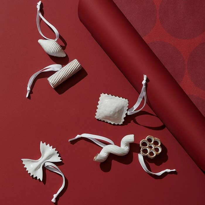 Papa Leo's pasta Christmas ornaments