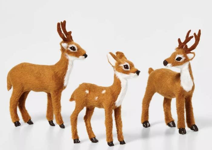 Faux fur reindeer