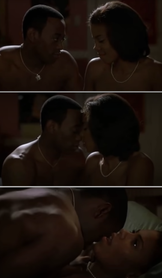 "Omar Epps and Sanaa Lathan having sex in ""Love & Basketball"""
