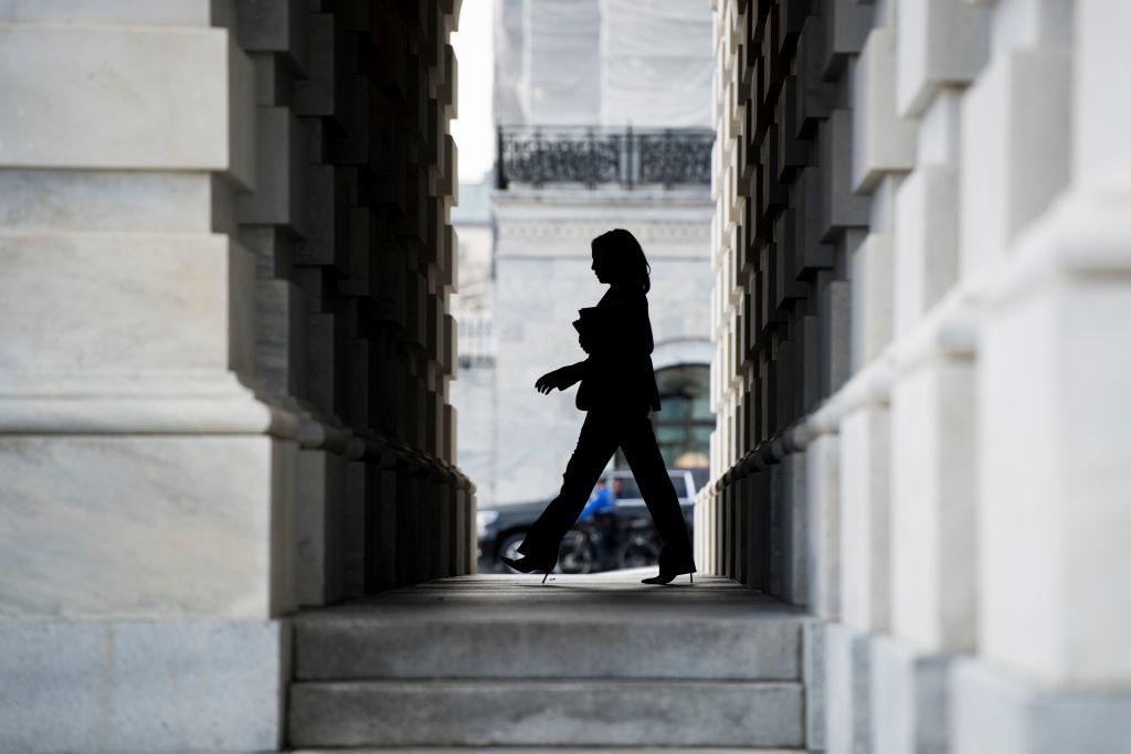Harris leaving the Capitol