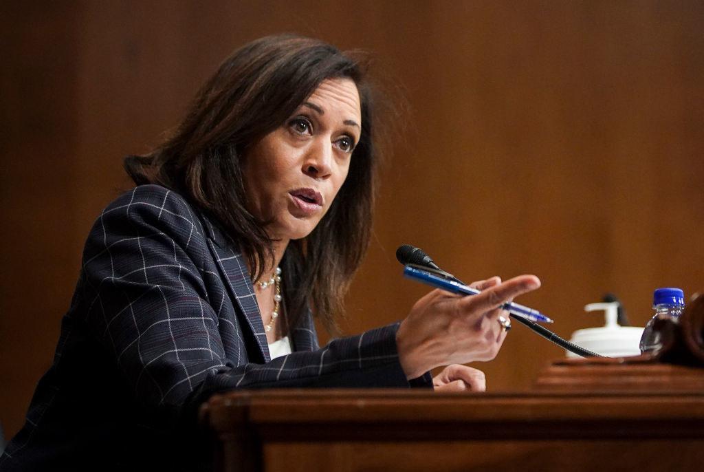 Harris at a Senate hearing