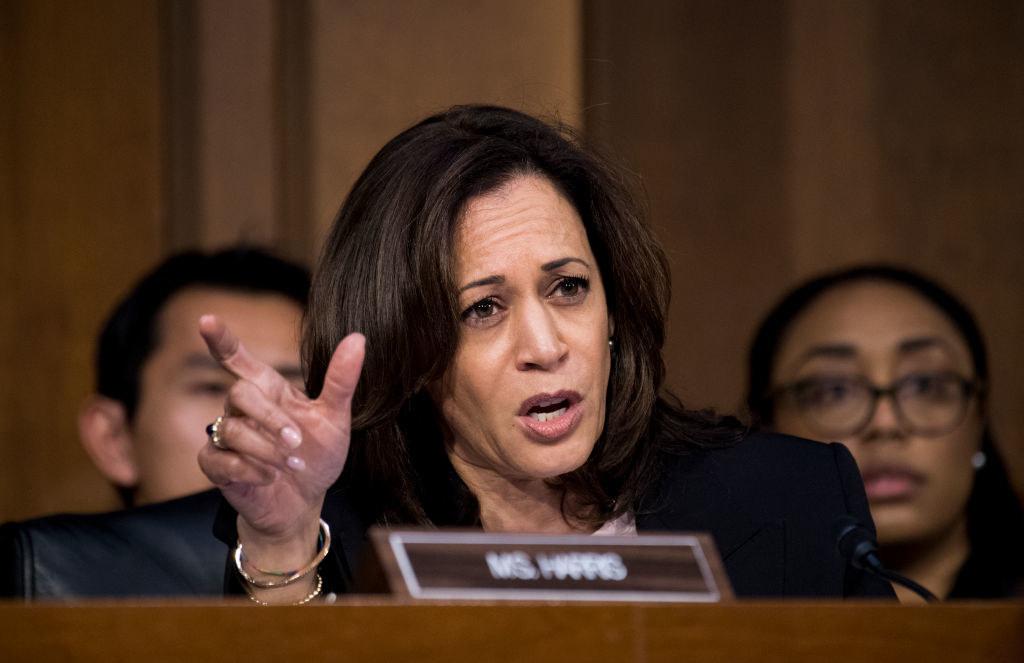 Harris at a Senate confirmation hearing