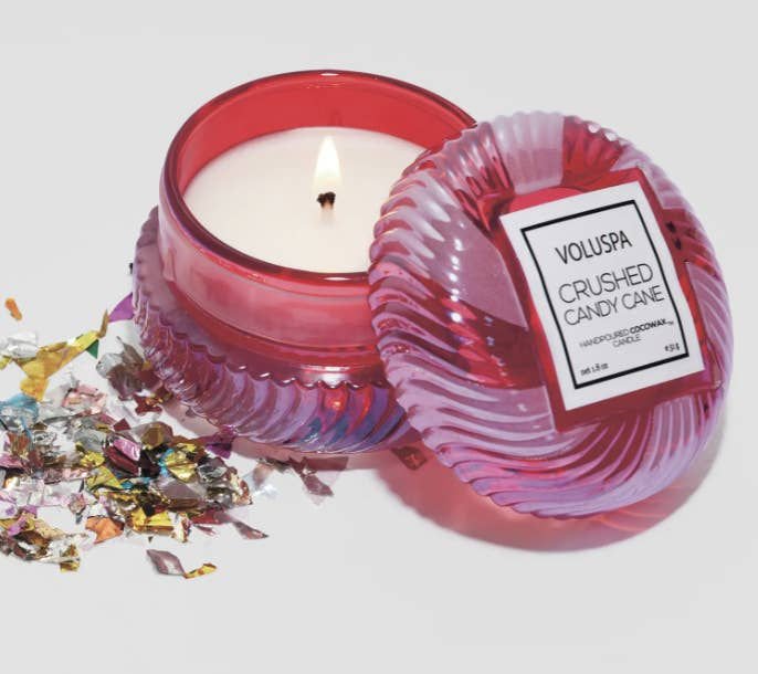 Voluspa candy cane candle
