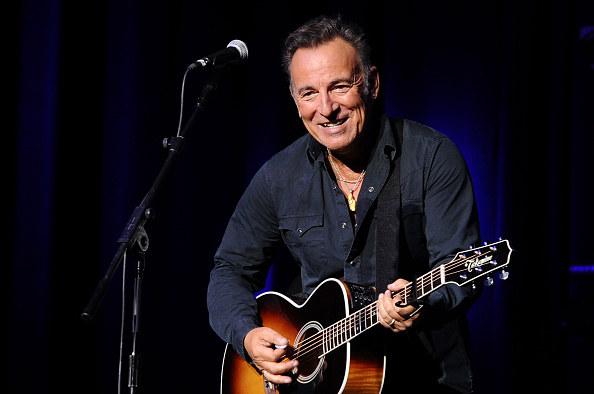 Bruce Springsteen performing onstage