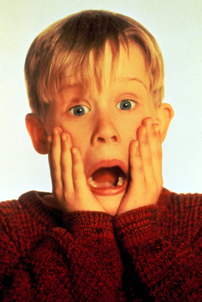 HOME ALONE, Macaulay Culkin, 1990.