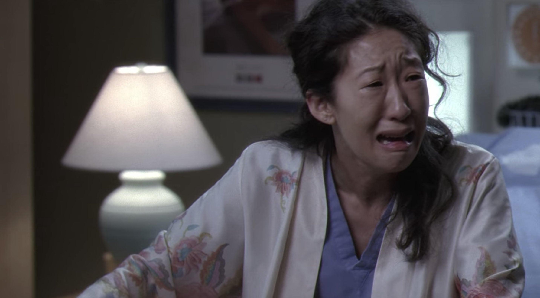 Cristina Yang sobbing