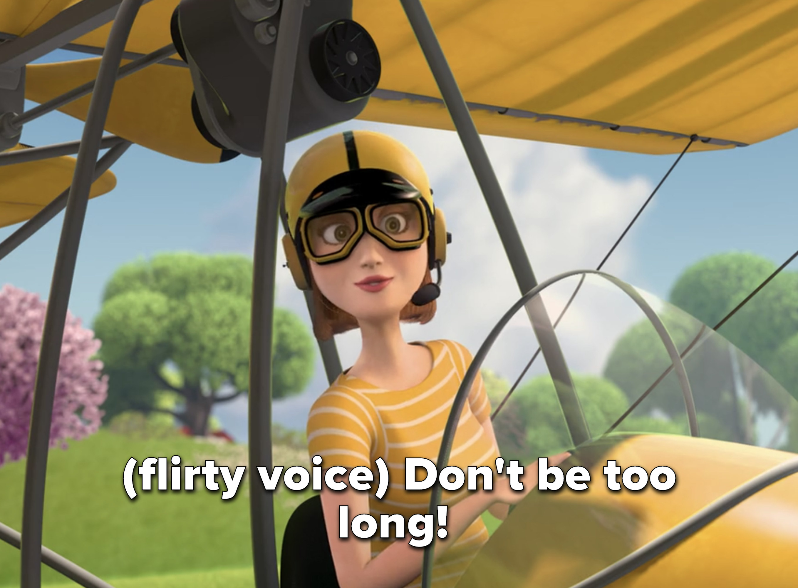 """Vanessa says """"Don't be too long!"""" in a flirty voice"""