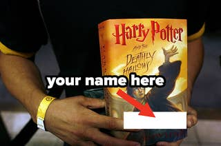 your name on the cover of a Harry Potter book