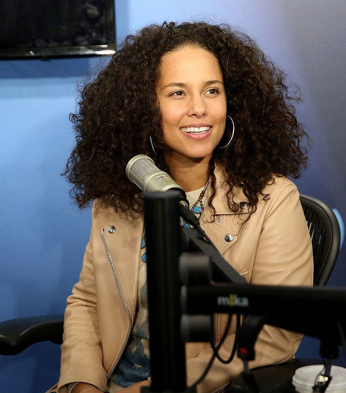 Alicia Keys at the SiriusXM Studio for an interview in 2016