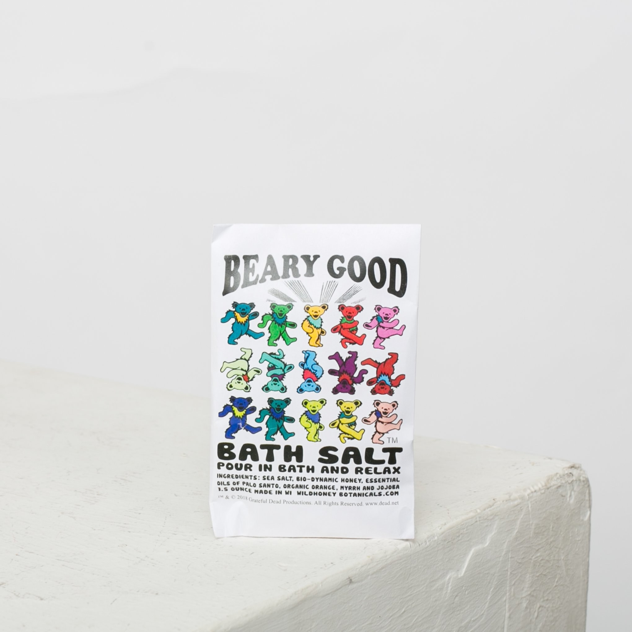 Beary Good bath Salt packaging