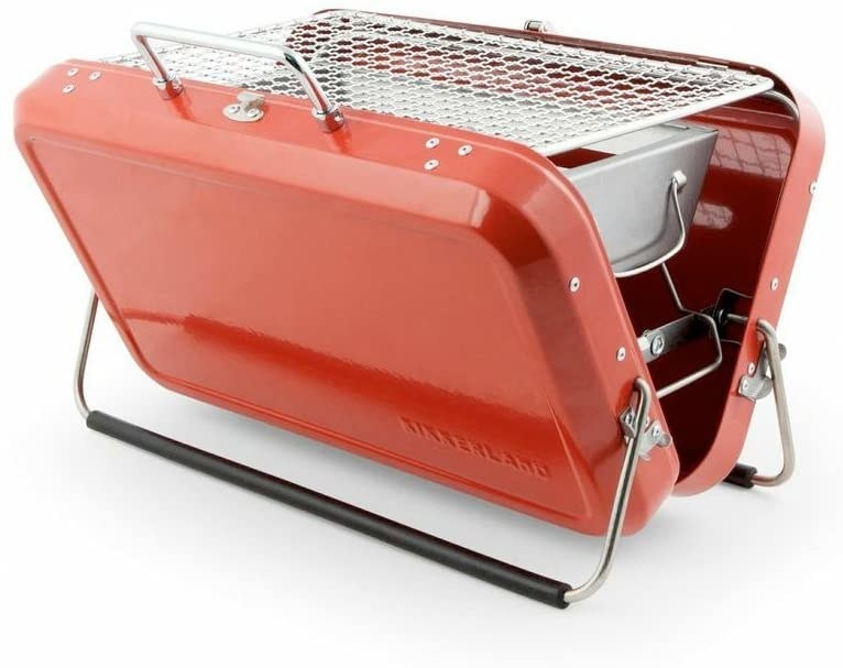 Red portable BBQ suitcase