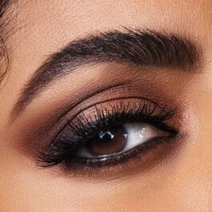 an eye look using the brown and bronze shades
