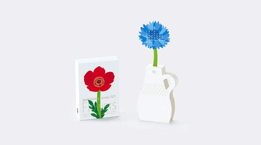 Flowers calendar craft kit with blue flower