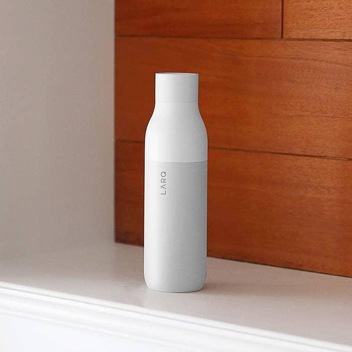 Sleek white bottle