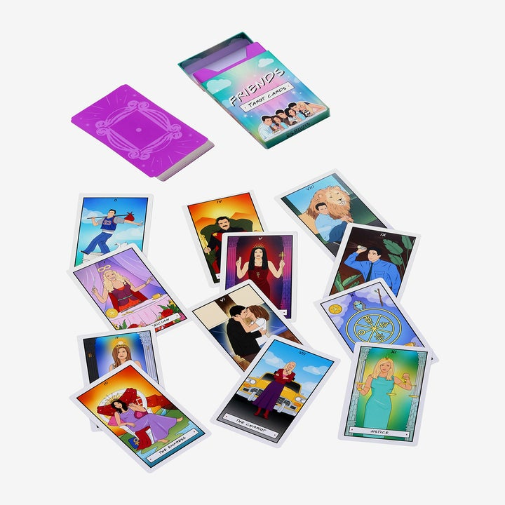 the tarot card deck with friends characters on it