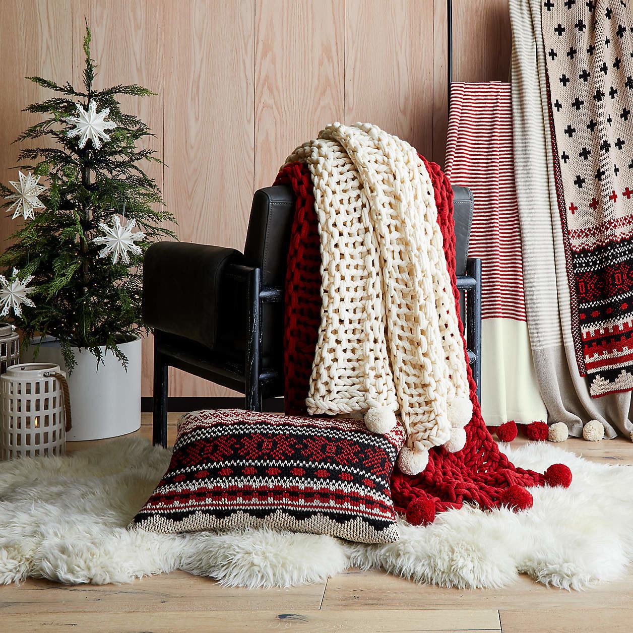Virka Ivory Throw blankets