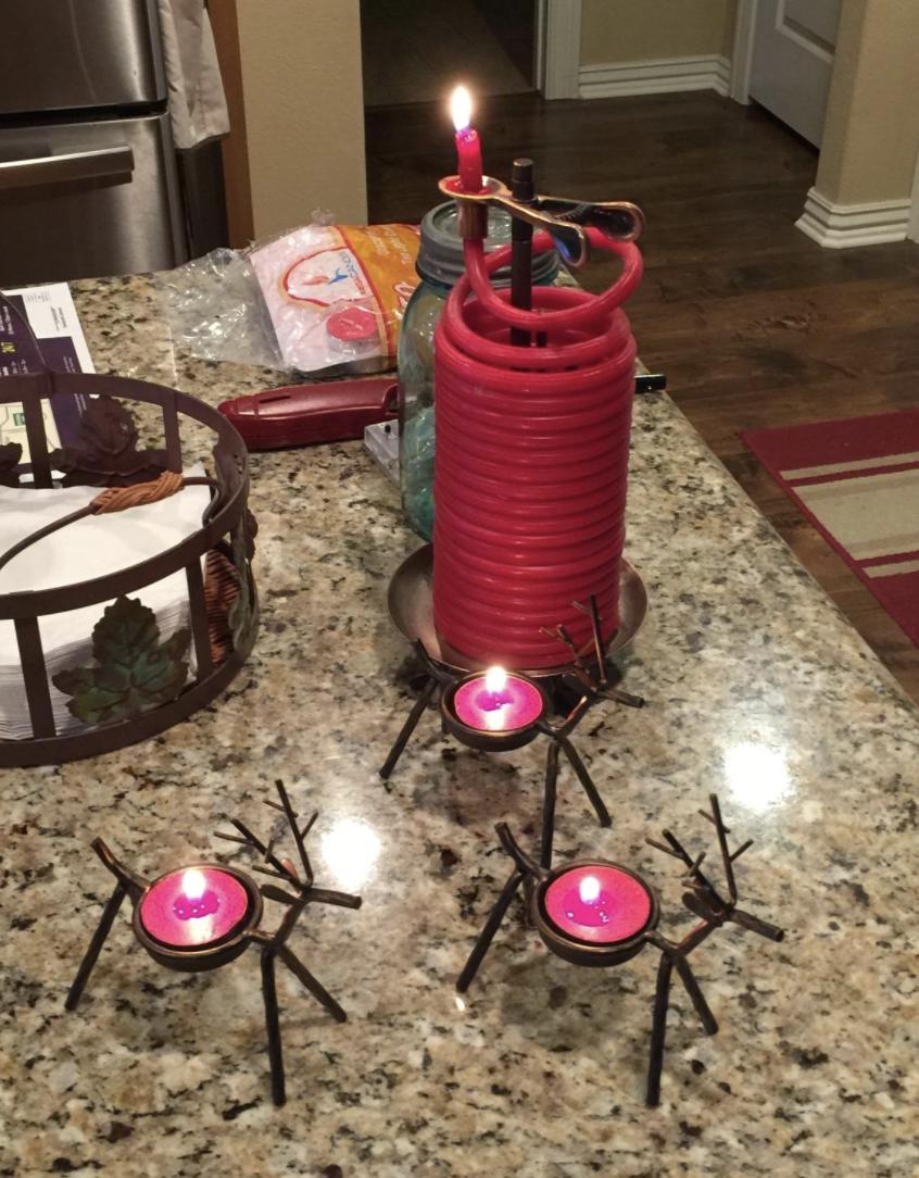Reindeer tea light candle holders