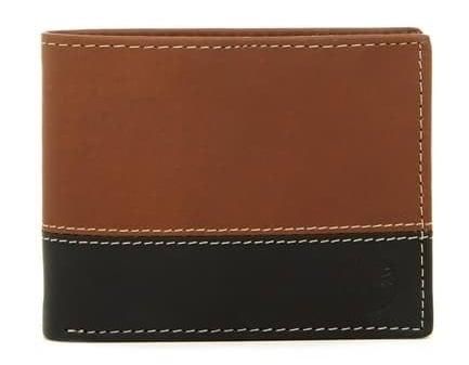 wallet with cognac brown, black coloring