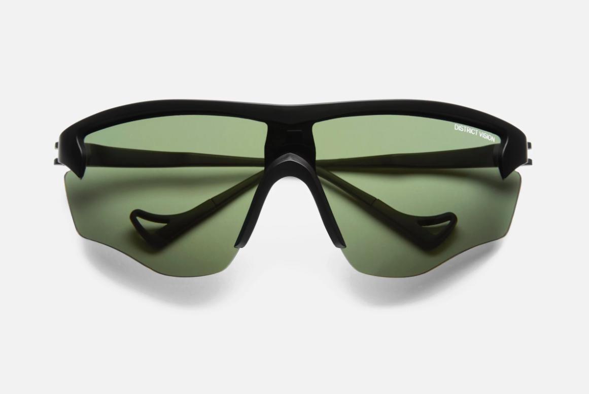 A pair of District Vision Junya Racer sunglasses in black