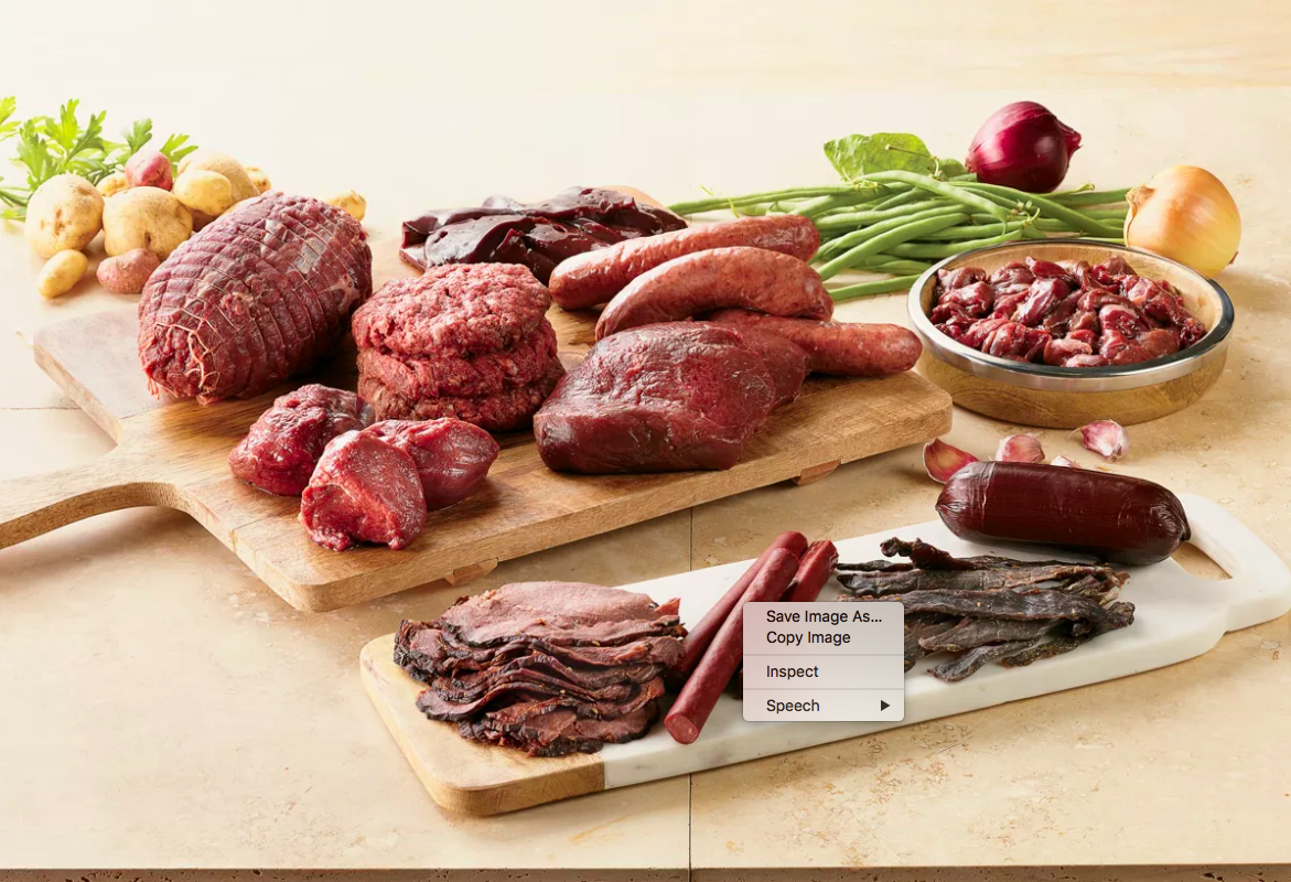 various meat cuts from the gift