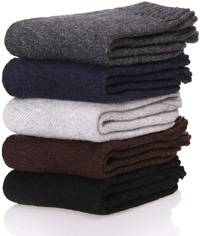 Stack of merino wool socks
