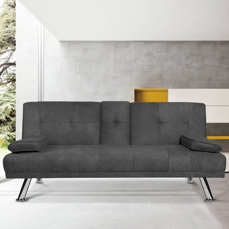 The gray futon