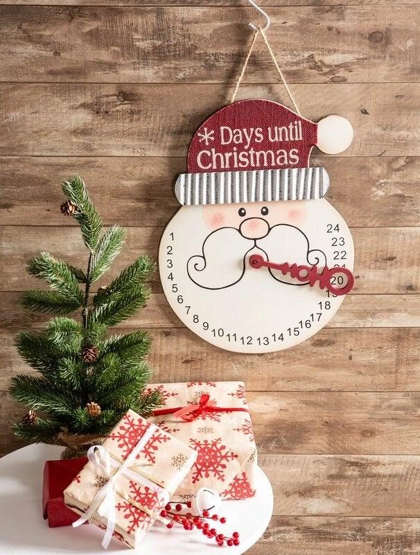 Santa wall sign countdown