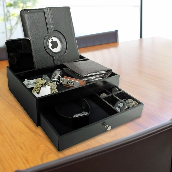 The desktop valet charging station