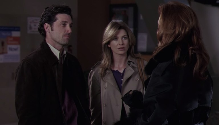 Derek and Meredith are confronted by Addison for the first time.