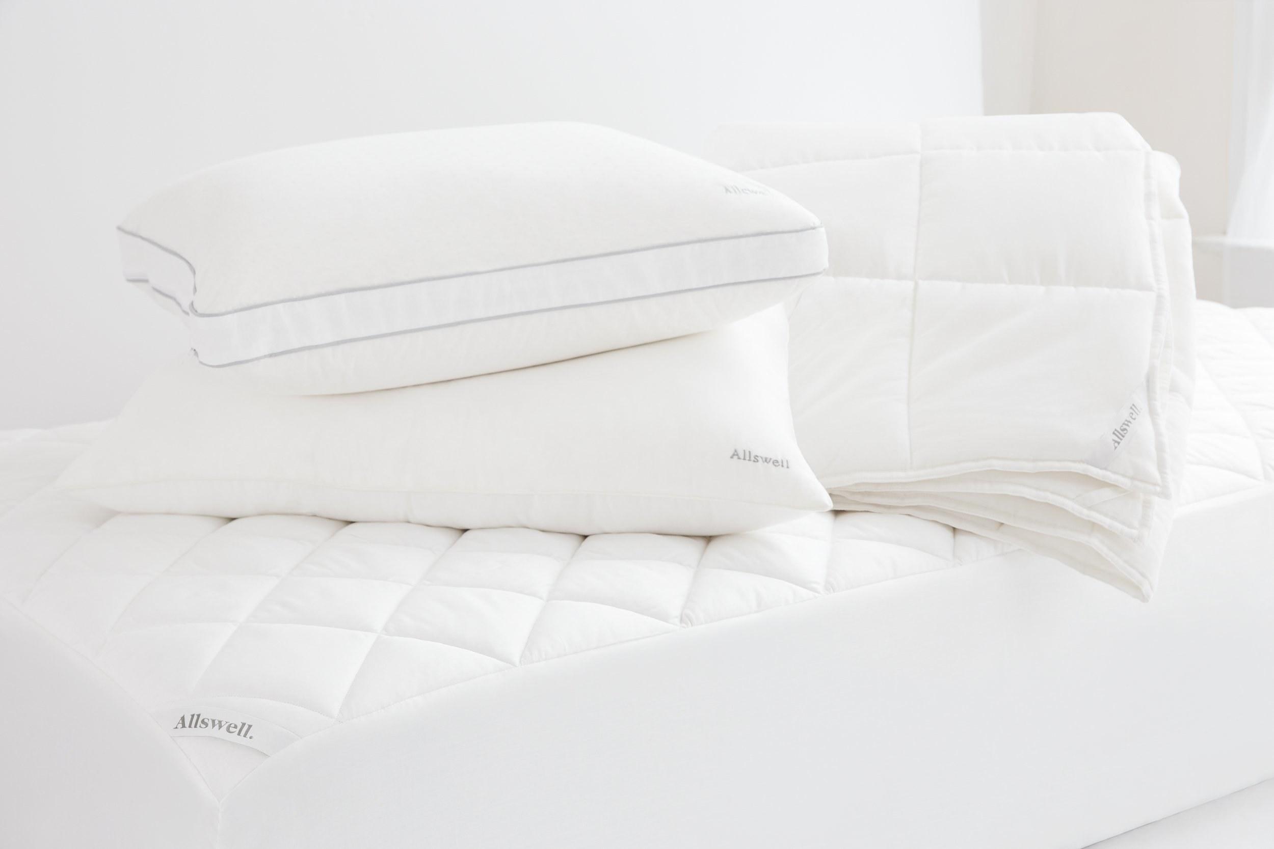 the white mattress pad